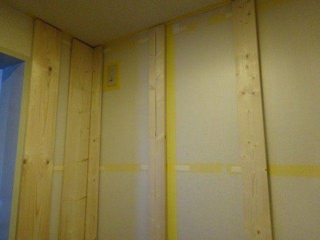 原状回復ok Diyで狭いキッチンにカウンター付きの大きな食器棚を