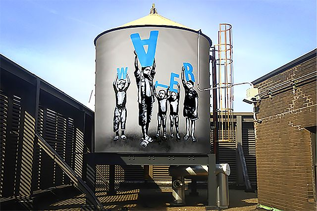The #WaterTankProject is one of the most striking ways to encourage people to save water we've seen yet