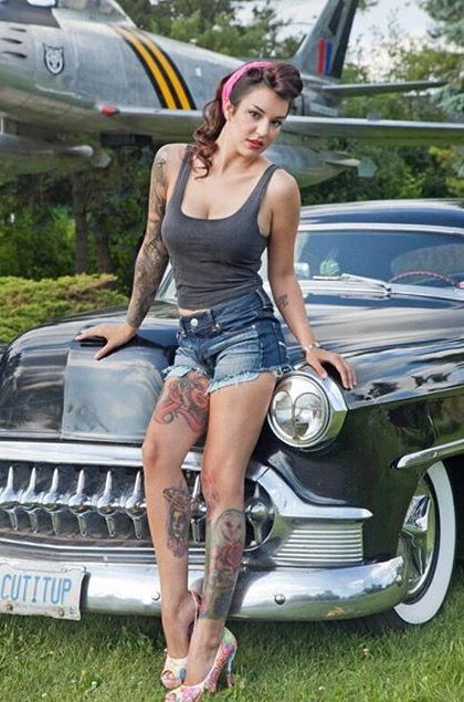 Best Rodz Brodz Images On Pinterest Car Girls Pin Up