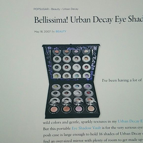 Urban Decay Ammo palette vault In search of the Urban Decay Ammo eyeshadow vault urban decay  Makeup Eyeshadow