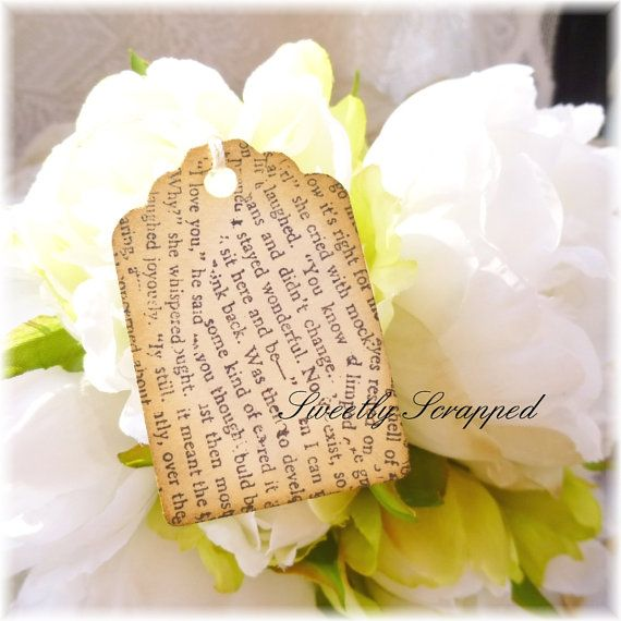 Book Text Vintage Style Tags Black White
