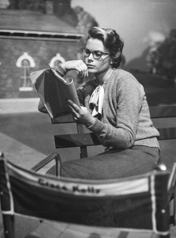 Hitchcock's Women: Grace Kelly, Kim Novak, Ingrid Berman and More - LIFE: Scripts, Reading, Style, Glasses, Country Girls, Movie, Grace Kelly, Classic, Actresses