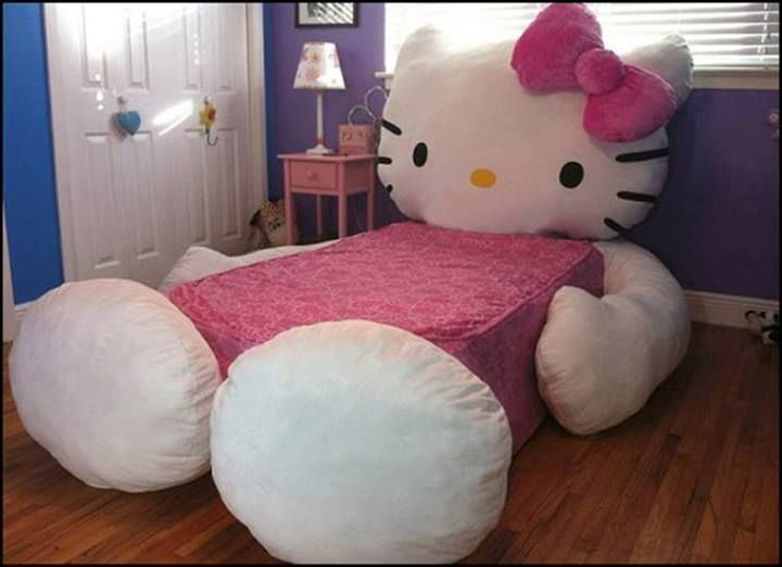 Hello Kitty Bed, so cute! How could a little girl not want to sleep in that.. :)