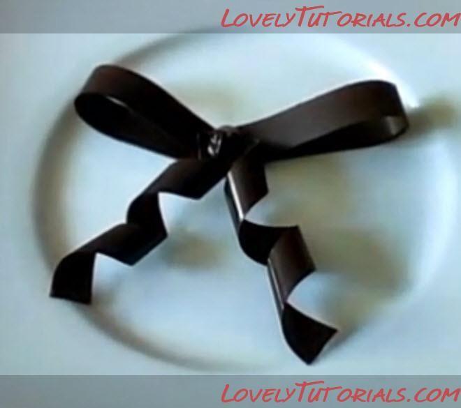Chocolate bow tutorial