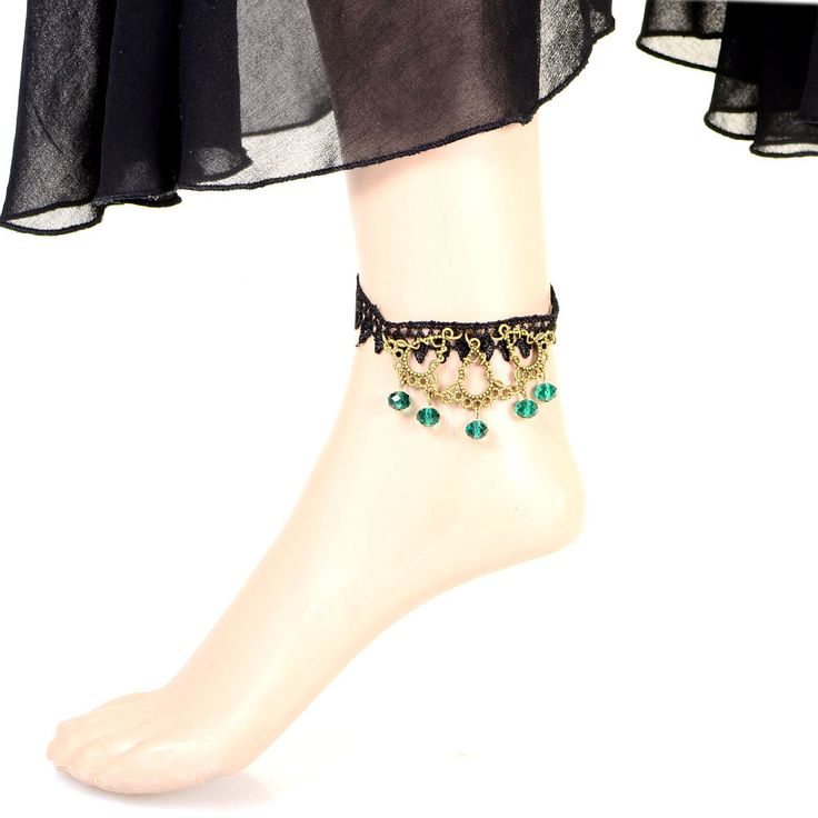 Get the best deal on Trendymela for Beora Round Green Pendants Lace Anklet. Shop this at just Rs.499. Use code OFF100 & Get Rs.100 off, free shipping and many more.. Get more information @ Trendymela.com