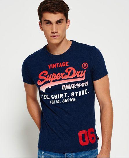 Superdry Shirt Shop Fade T-shirt  Navy