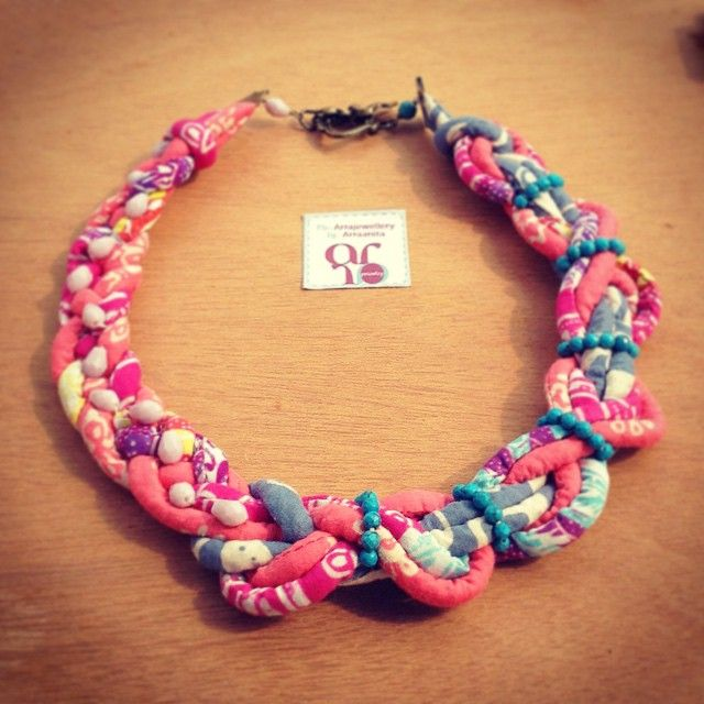 peach and pink and blue... goes together in a twine by arra jewellery