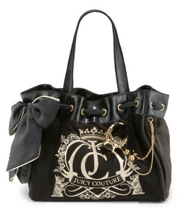 Black juicy couture purse  e2e6ab0cf7