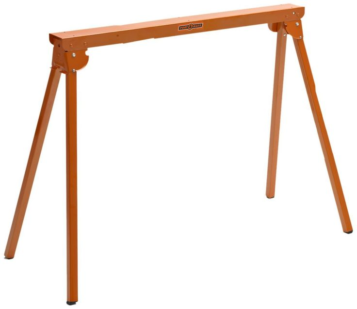 All Steel Folding Sawhorse   Pair Portamate TWO Tall Fold Up Heavy Duty Saw  Horses. Fully Assembled, Capacity Each) And Quickly Folds Up For Easy  Storage