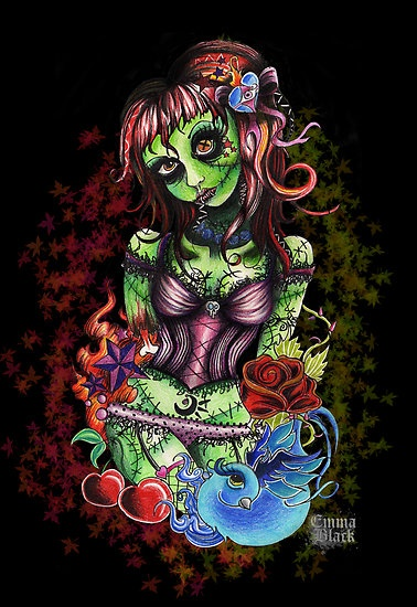 The Zombie Girl Tattoo I want!!