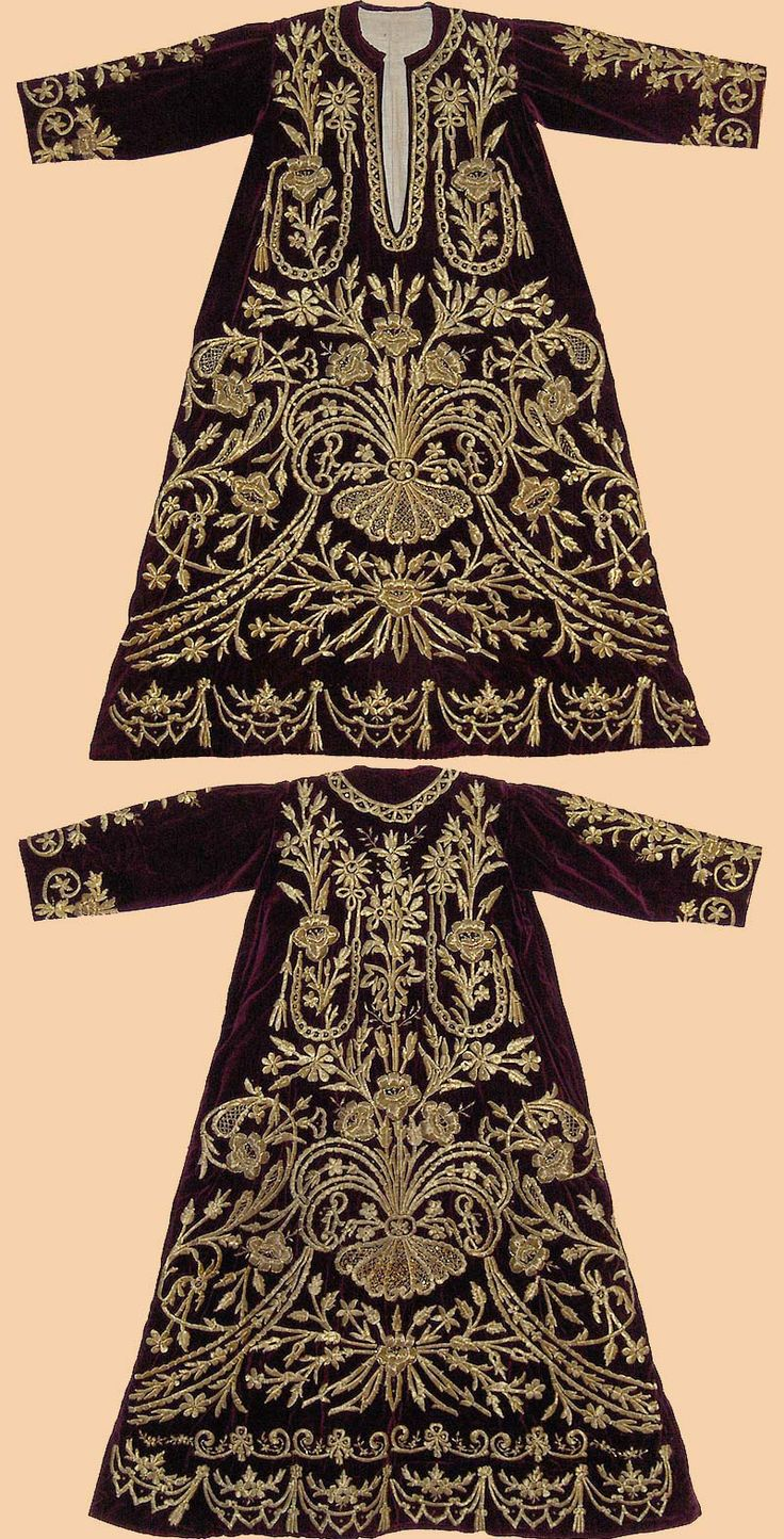 Festive woman's dress (bindallı entari).  Urban, late 19th century.