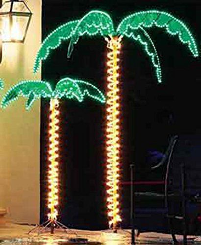 "7 Foot High ""SUPER BRIGHT"" LED Lighted Tropical Palm Tree - 5 Times Brighter than Incandescent Bulbs EEZ RV Products"