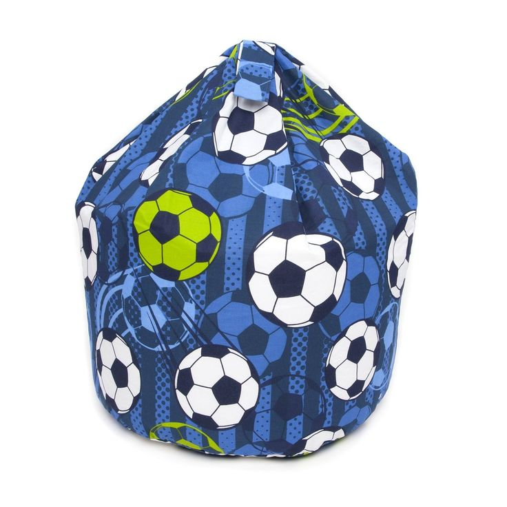 BetterDreams Exclusive Blue Football Bean Bag Chair For Kids Filled