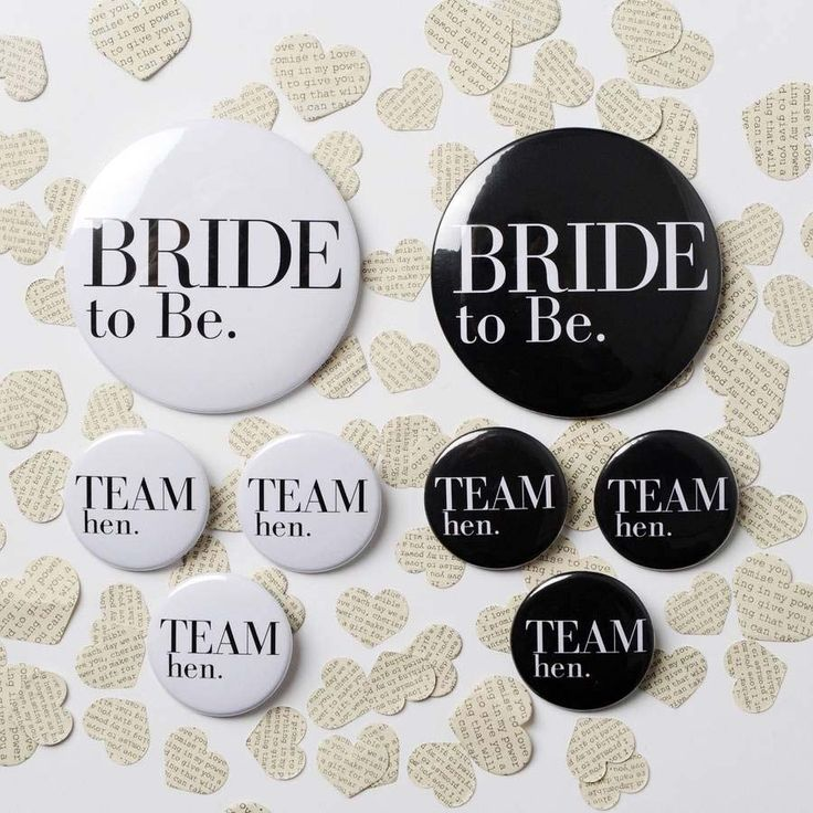 Hen party badges from Not on the High Street