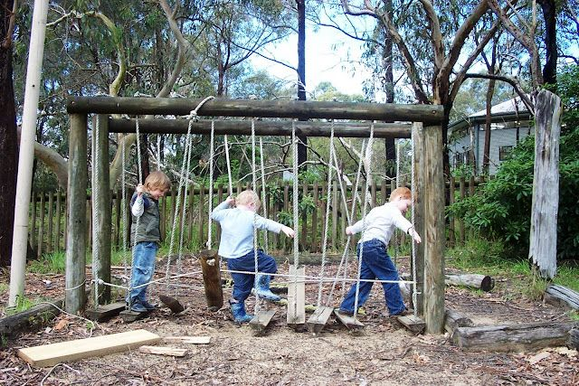 "Great article on setting up natural play spaces.The author mentions Nancy Blakey: ""90% of our best childhood memories take place outdoors."""