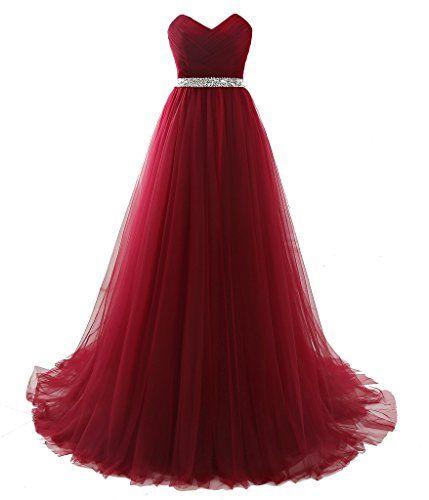 PuTao Women's Sweetheart Pleat Beaded Girls Bridesmaid Evening Gowns