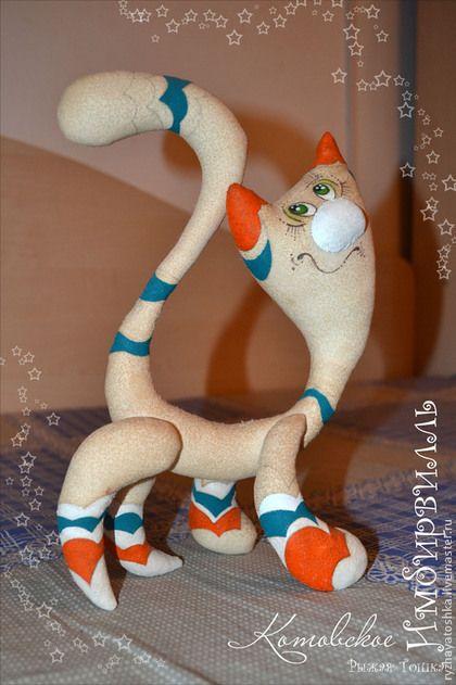 Игрушки животные, ручной работы. Ярмарка Мастеров - ручная работа. Купить Имбирвилльский кот. Текстильный кот. Кот для счастья. Твой личный кот. Handmade.