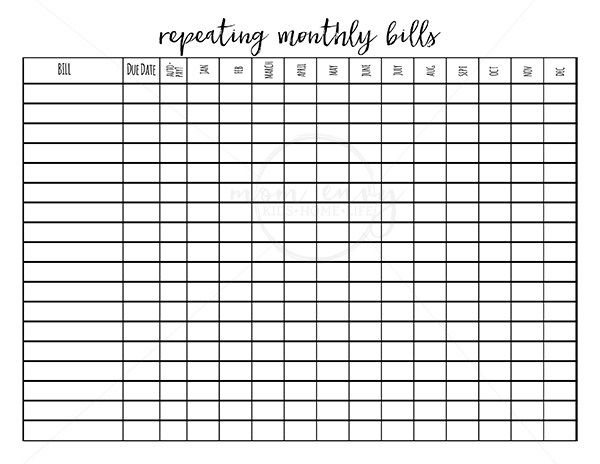 photograph regarding Bullet Journal Pages Printable titled Printable Spending budget Planner - 9 Finances Printables for Totally free