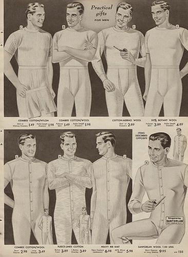Men's long underwear 1957 Sears Christmas Catalog