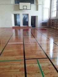 Sala  gimnastyczna w jednej z Wrocławskich szkół.