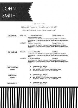 10 best Modern Resume Templates images on Pinterest Microsoft - modern resume sample