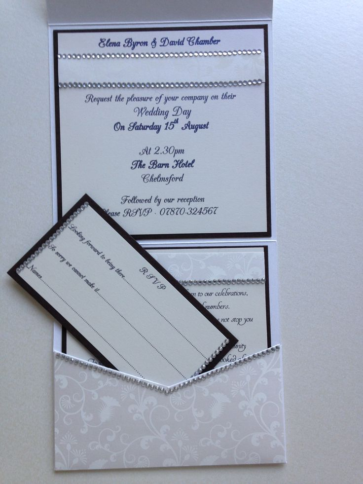 Pearl hand made wallet wedding invitation By