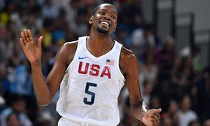 #Rio2016 Kevin Durant was the star of the show for the US on Wednesday