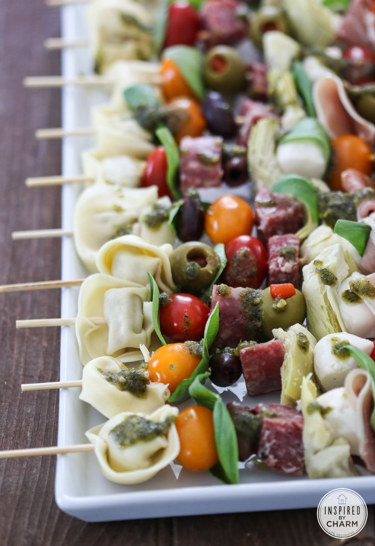 Antipasto Kabobs easy appetizer for festive entertaining!