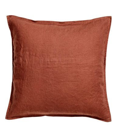 Washed Linen Cushion Cover | Rust | H&M HOME | H&M US