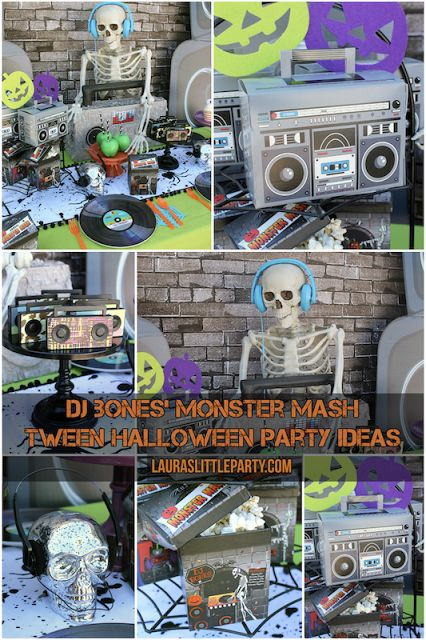 looking for fun tween halloween party ideas create a monster mash party featuring dj bones heu0027s always mixing some spookycool tunes