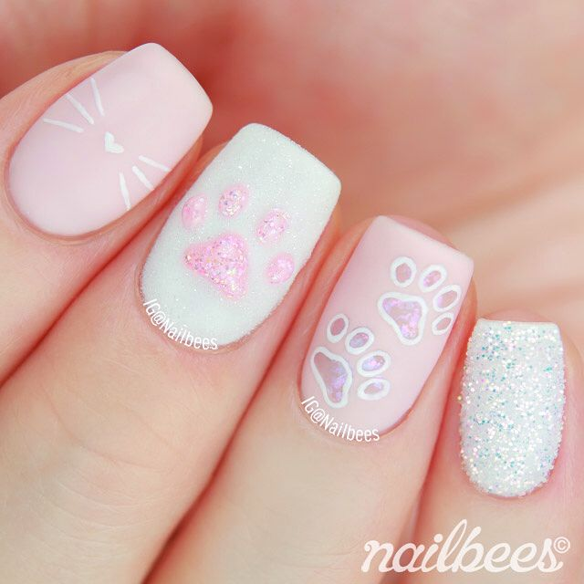 """3,940 Likes, 146 Comments – Minnie (Nailbees) on Instagram: """"🐾 Kitty Paw Na…"""