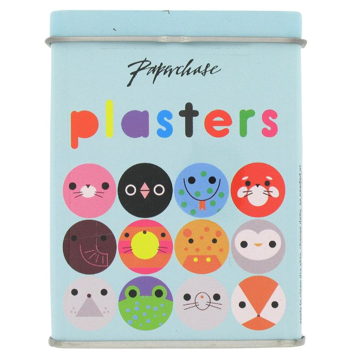 Cute animals on a package of sticking plasters! Could try making these out of coloured paper/paint/ paper plates as a craft activity?