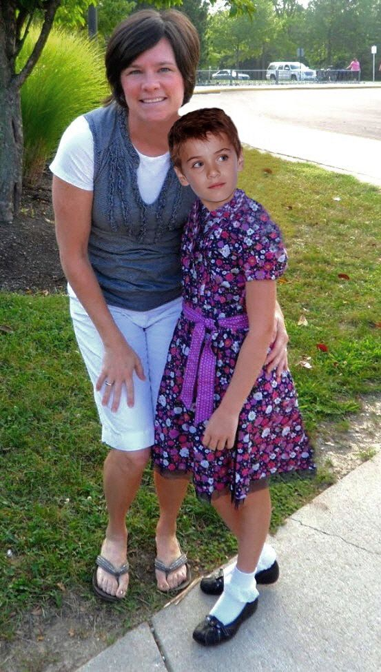 It was Mother-daughter day at school but my mom didn't have a daughter, just me, her son!