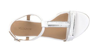 Biało-srebrne sandały #kazar