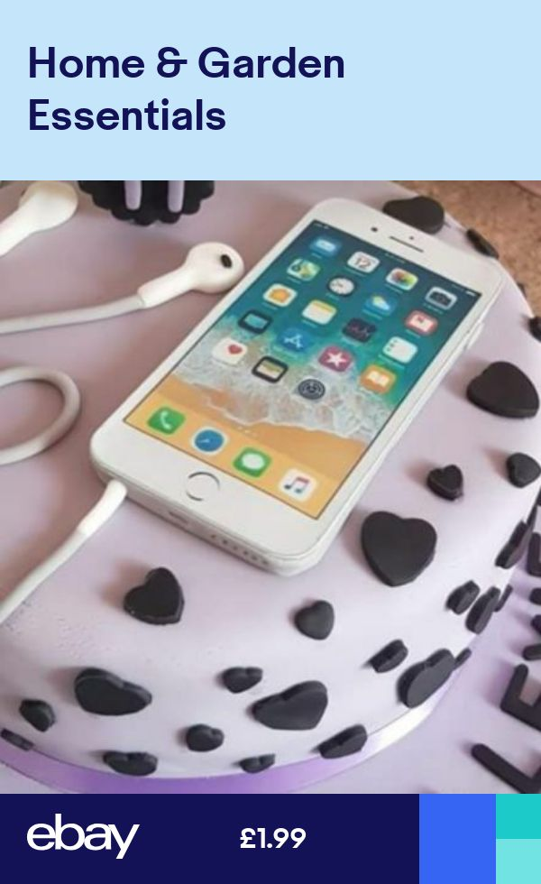 White iphone mobile icing birthday cake topper similar to ...