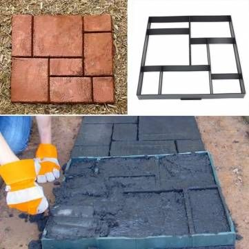 51cm Garden DIY Plastic Path Maker Model Road Paving Cement Mould Brick Stone Road