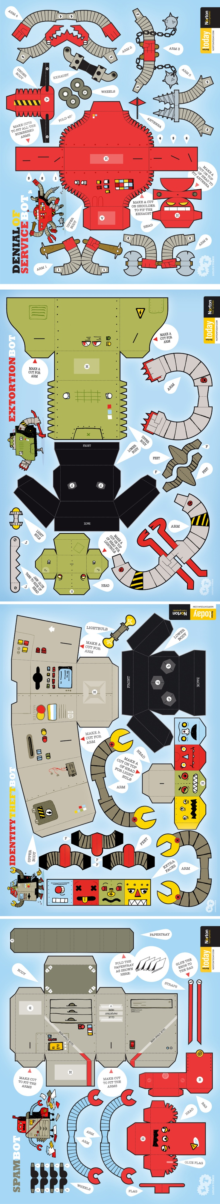 PAPERTOYS by Loulou and Tummie Robots DIY