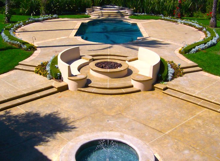 17 best images about fogata firepit on pinterest for Pool and firepit design