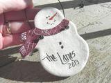 Personalized Snowman Gift Salt Dough Ornament