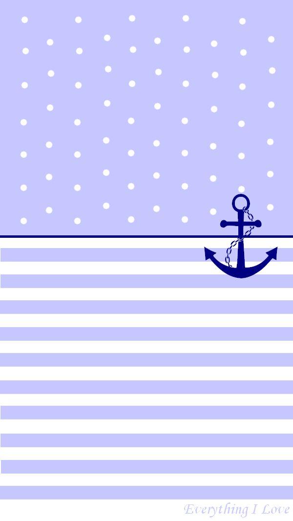 Cute Nautical Wallpaper Simple Pastel Anchor Iphone Wallpaper Lock Screen Panpins