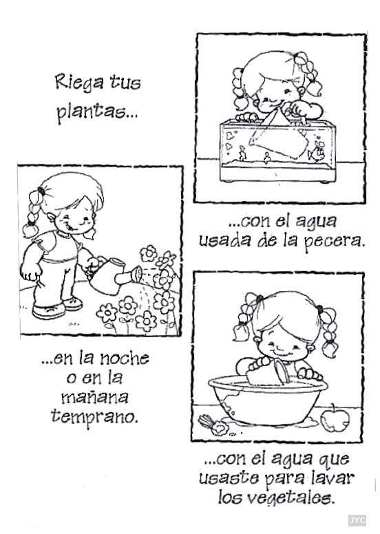Dibujos de cuidar el agua para colorear - Imagui