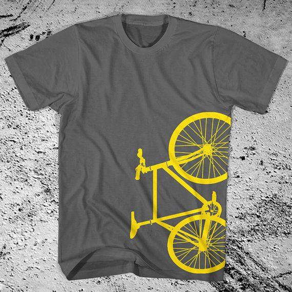 New Fixie Bike Charcoal Grey TShirt Fixed Gear by iheartanalogue