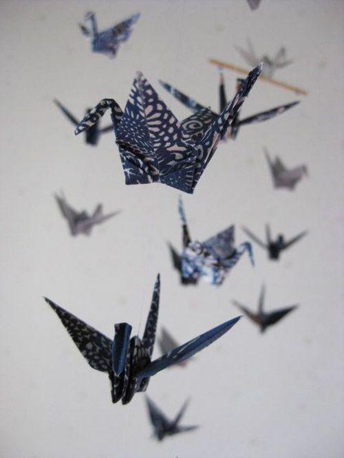Japanese origami cranes