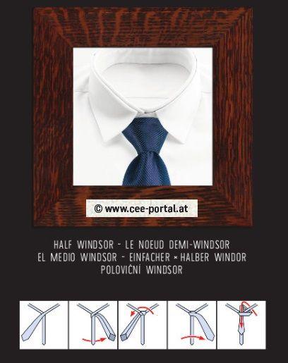 HALF WINDSOR ~ LE NOEUD DEMI-WINDSOR EL MEDIO WINDSOR ~ EINFACHER/× HALBER WINDOR POLOVIČNÍ WINDSOR