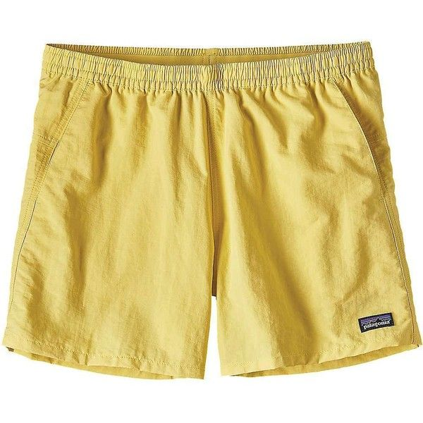 Patagonia Women's Baggies Short ($49) ❤ liked on Polyvore featuring activewear, activewear shorts, yoke yellow, patagonia sportswear and patagonia