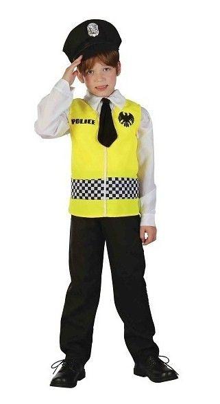 Karnevalový kostým Policajt, žltý, M - Casallia