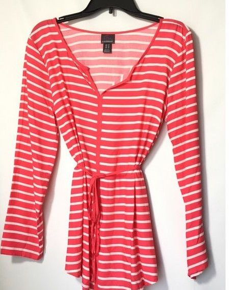 2d33fc0a628f1 Oh Baby by Motherhood Maternity Sz S M Blouse Coral White Striped Summer  NWT #ohBabybyMotherhood #Blouse #Career