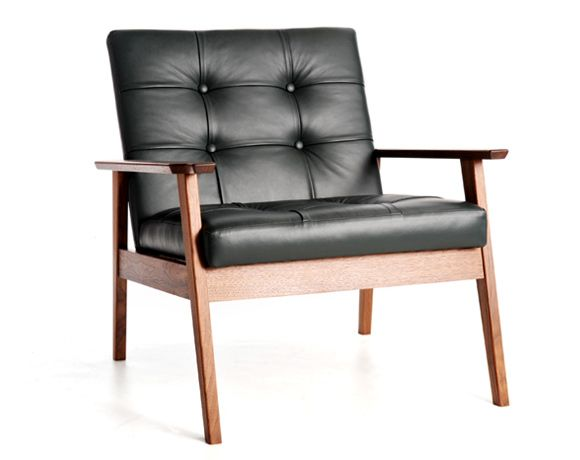 Lounge Chair in Black Walnut/Leather