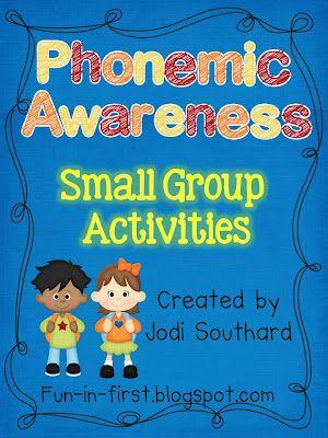 Fun in First Grade: Small Group Phonemic Awareness Activities - great resource