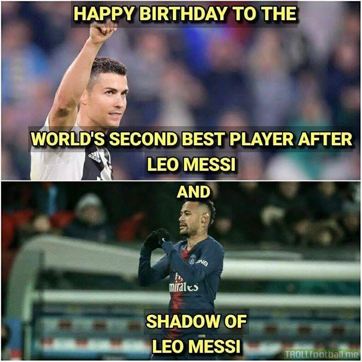 Happy Birthday Neymar Jr And Ronaldo Neymar Jr Neymar Funny Soccer Memes